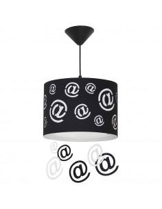 Lampa 1-pł. ALDEX MAIL czarna 703G/1/D