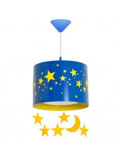 Lampa 1-pł. ALDEX GWIAZDY niebieska 710G/11/D