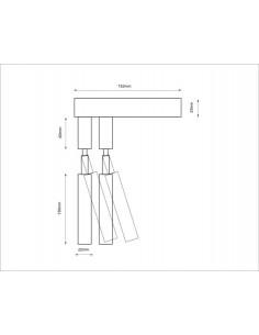 Lampa Shilo Dohar alha E 9014 biały/biały 9014/G9/BI/BI