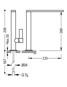 Bateria kuchenna TRES COCINA EXCLUSIVE czarny mat stojąca 20548601NM