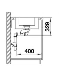 Zlewozmywak kuch. wpuszczany, odwracalny BLANCO LEMIS 6 S-IF 1000x500 mm korek automatyczny, stal 523033