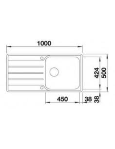 Zlewozmywak kuch. wpuszczany, odwracalny BLANCO LEMIS XL 6 S-IF 1000x500 mm korek manualny, stal 523034