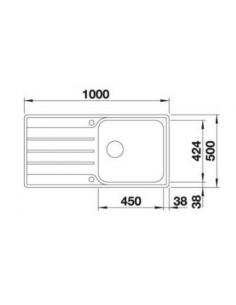 Zlewozmywak kuch. wpuszczany, odwracalny BLANCO LEMIS XL 6 S-IF 1000x500 mm korek automatyczny, stal 523035