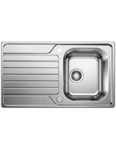 Zlewozmywak kuch. wpuszczany, odwracalny BLANCO DINAS 45 S 860x500 mm korek manualny, stal 523374