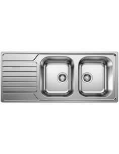 Zlewozmywak kuch. wpuszczany, odwracalny BLANCO DINAS 8 S 1160x500 mm korek manualny, stal 523376