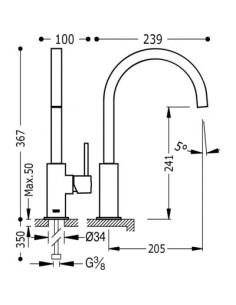 Bateria kuchenna TRES COCINA EXCLUSIVE chrom/czarny stojąca 630497