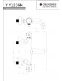 Bateria wannowa Omnires Y termostatyczna, chrom Y1236/N