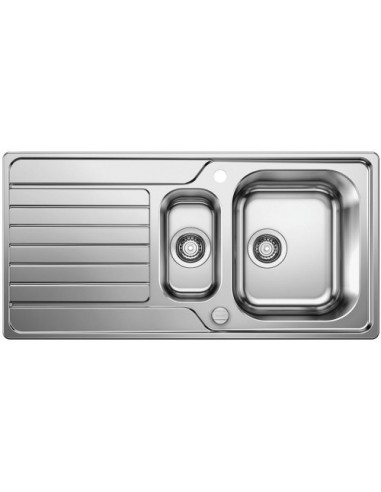 Zlewozmywak kuch. wpuszczany, odwracalny BLANCO DINAS 6 S 1000x500 mm korek automatyczny, stal 523379