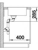 Zlewozmywak kuch. wpuszczany, nieodwracalny BLANCO SUPRA 400-IF 440x440 mm korek manualny, stal 523356