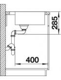 Zlewozmywak kuch. wpuszczany, nieodwracalny BLANCO SUPRA 500-IF/A 540x500 mm korek manualny, stal 523363