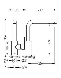 Bateria kuchenna TRES COCINA SELECTION chrom stojąca 181436