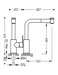 Bateria kuchenna TRES COCINA SELECTION chrom stojąca 181438