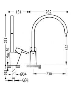 Bateria kuchenna TRES COCINA SELECTION chrom stojąca 183341