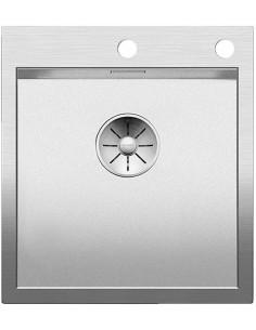 Zlewozmywak kuch. wpuszczany, nieodwracalny BLANCO ZEROX 400-IF/A 510x460 mm korek automatyczny (InFino), stal Durinox® 523100