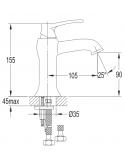 Bateria umywalkowa Omnires Art Deco chrom AD5110 CR