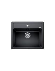 Zlewozmywak kuch. wpuszczany, nieodwracalny BLANCO LEGRA 6 585x500 mm korek manualny, antracyt 523332