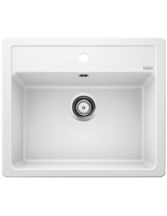Zlewozmywak kuch. wpuszczany, nieodwracalny BLANCO LEGRA 6 585x500 mm korek manualny, biały 523334