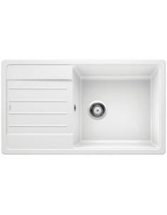 Zlewozmywak kuch. wpuszczany, odwracalny BLANCO LEGRA XL 6S 860x500 mm korek manualny, biały 523328