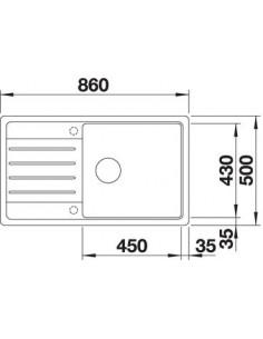 Zlewozmywak kuch. wpuszczany, odwracalny BLANCO LEGRA XL 6S 860x500 mm korek manualny, jaśmin 523329