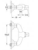 Bateria natryskowa Omnires Art Deco chrom AD5140 CR