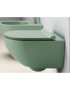 MISKA WC CATALANO SFERA NEW FLASH BEZRANTOWA 35X55 ZIELONY MAT 1VSF54RVS