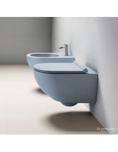 MISKA WC CATALANO SFERA NEW FLASH BEZRANTOWA 35X55 NIEBIESKI MAT 1VSF54RAS