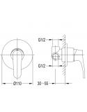Bateria natryskowa podtynkowa Omnires Art Deco chrom AD5145 CR