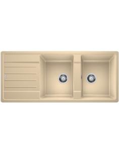 Zlewozmywak kuch. wpuszczany, odwracalny BLANCO LEGRA 8S 1160x500 mm korek manualny, szampan 523167