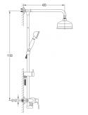 Zestaw natryskowy natynkowy Omnires Art Deco chrom AD5144 CR