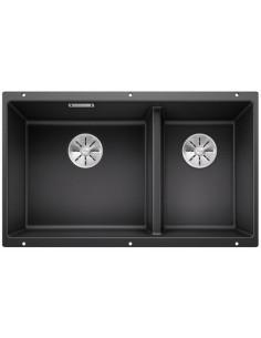 Zlewozmywak kuch. podwieszany, nieodwracalny BLANCO SUBLINE 430/270-U 755x460 mm korek manualny (InFino®), antracyt 523151