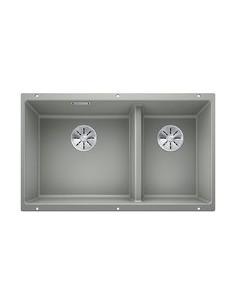 Zlewozmywak kuch. podwieszany, nieodwracalny BLANCO SUBLINE 430/270-U 755x460 mm korek manualny (InFino®), perłowoszary 523154