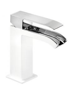 Bateria umywalkowa Tres CUADRO EXCLUSIVE stojąca biały/chrom 00611001BLD