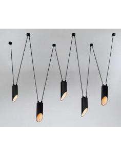 Lampa Shilo Dohar VIWIN mini 9048 czarna 9048/GU10/CZ