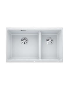 Zlewozmywak kuch. podwieszany, nieodwracalny BLANCO SUBLINE 430/270-U 755x460 mm korek manualny (InFino®), biały 523155