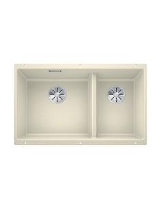 Zlewozmywak kuch. podwieszany, nieodwracalny BLANCO SUBLINE 430/270-U 755x460 mm korek manualny (InFino®), jaśmin 523156