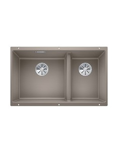 Zlewozmywak kuch. podwieszany, nieodwracalny BLANCO SUBLINE 430/270-U 755x460 mm korek manualny (InFino®), tartufo 523158