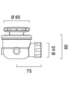 SYFON BRODZIKOWY CATALANO fi 60 CHROM 5PIPD00
