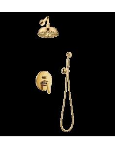 Zestaw natryskowy podtynkowy Omnires Art Deco złoto SYS AD27 ZŁ
