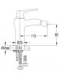 Bateria bidetowa Omnires art Deco brąz antyczny AD5121 BR