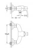 Bateria natryskowa Omnires Art Deco brąz antyczny AD5140 BR
