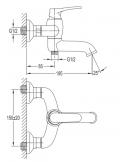 Bateria wannowa Omnires Art Deco brąz antyczny AD5131 BR
