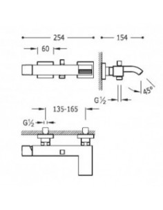 Bateria wannowa Tres Cuadro Exclusive kaskada biały mat 0071700203BM