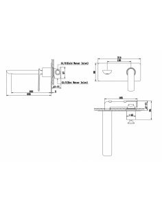 Bateria umywalkowa podtynkowa Kohlman EXPERIENCE stal szczotkowana QW185EG