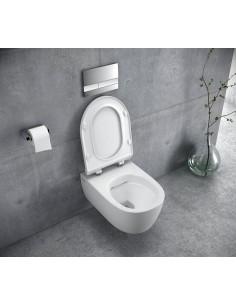 MISKA WC WISZĄCA BEZRANTOWA 48,5x36,5 cm DOTO PURE-RIM 48+DESKA WOLNOOPADAJĄCA CEAX.1404.485.WH