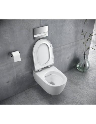 MISKA WISZĄCA WC BEZRANTOWA 54,5x36 cm DOTO PURE-RIM 54 CEAX.1404.545.WH