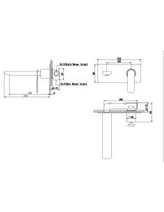 Bateria umywalkowa podtynkowa Kohlman Experience czarna QW185EB
