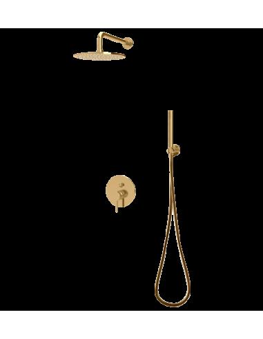 Zestaw natryskowy podtynkowy Omnires Y złoty deszczownica 25cm Y SYS Y19 ZŁ