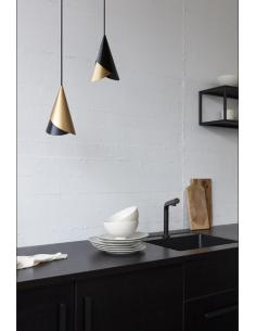 LAMPA CORNET WHITE & BRASS UMAGE - BIEL I MOSIĄDZ 2194