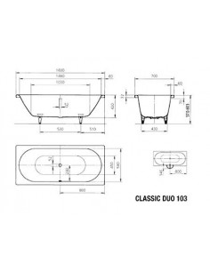 KALDEWEI CLASSIC DUO WANNA 160X70X43 290300010001