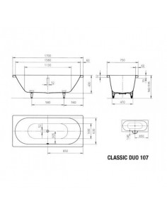 KALDEWEI CLASSIC DUO WANNA 170X75X43 290700010001